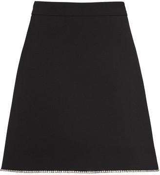 Miu Miu crystal-embellished A-line skirt