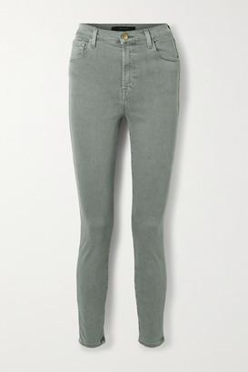 J Brand Leenah High-rise Skinny Jeans - Gray