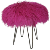 Le-Coterie Curly Fur Hairpin Ottoman