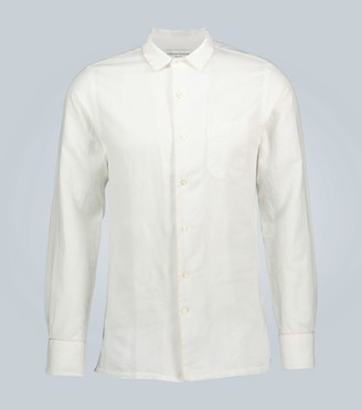 Officine Generale Long-sleeved shirt with piping