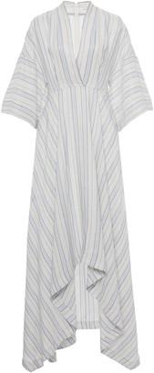 Co Striped Voile Midi Dress