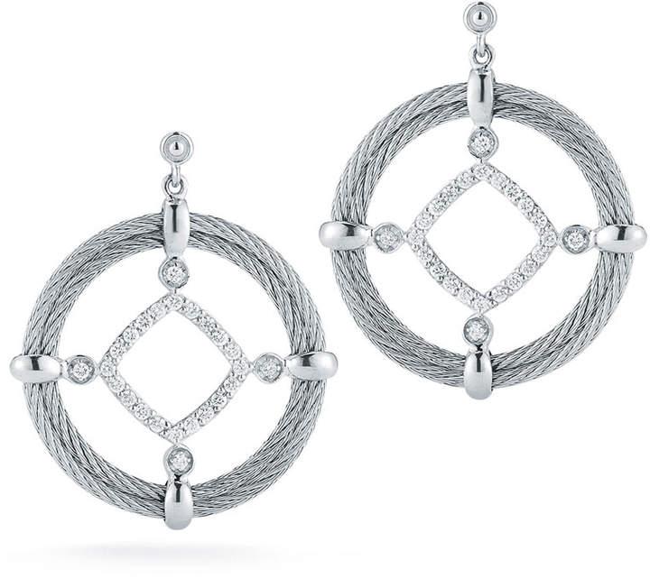 Alor Classique Pave Diamond Circle Drop Earrings
