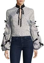 Caroline Constas Stella Floral Print Blouse