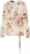 Rochas Ruffled floral-print silk-chiffon blouse
