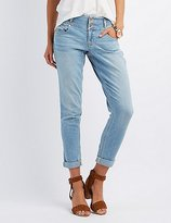 Charlotte Russe Refuge Skinny Boyfriend Light Wash Jeans