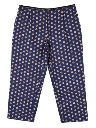 Mulberry Blue Wool Trousers