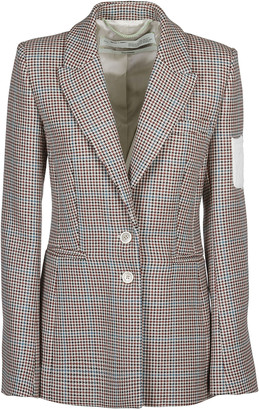 Off-White Houndstooth Plaid Blazer