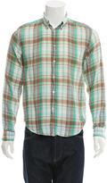Acne Studios Plaid Button-Up Shirt