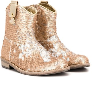 MonnaLisa Sequinned Cowboy Boots