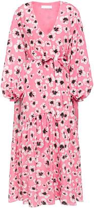 Borgo de Nor Uma Floral-print Crepe Midi Dress