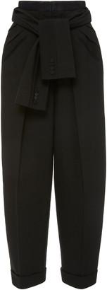 Alexander Wang Tie-Waist Crepe Tuxedo Pants