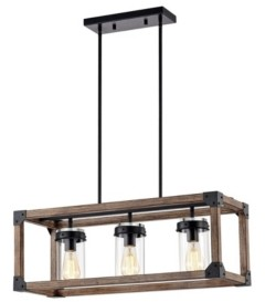 """Home Accessories Gelboy 30"""" 3-Light Indoor Pendant Lamp with Light Kit"""