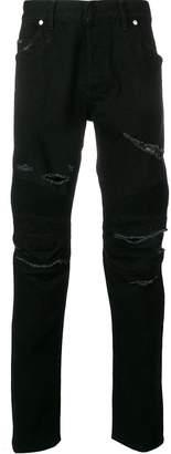 Balmain ripped detail jeans