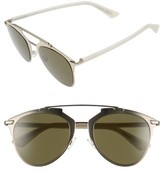 Christian Dior Women's Reflected 52Mm Brow Bar Sunglasses - Gold Whte/ Green