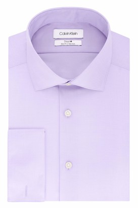 Calvin Klein Men's Dress Shirt Slim Fit Non Iron Solid French Cuff