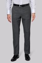 Moss Esq. Regular Fit Grey Textured Pants