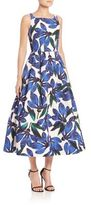 Milly Petal Printed Fit & Flare Dress