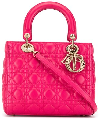 Christian Dior Pre Owned Lady Cannage 2way hand bag