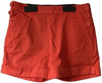 Marc Jacobs Orange Cotton Shorts