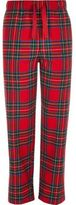 River Island Red Tartan Drawstring Pyjama Bottoms