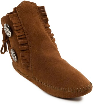 Minnetonka Men's Two Button Suede Soft Sole Boots