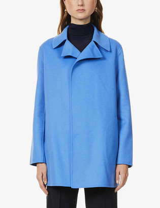 Theory Collared wool and cashmere-blend coat