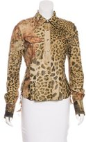 Roberto Cavalli Feather-Accented Leather Jacket