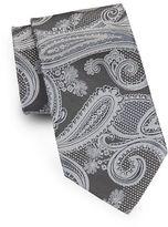 Black Brown 1826 Paisley Silk Tie