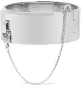 Eddie Borgo Safety Chain Rhodium-plated Bracelet - Silver