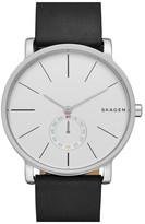Skagen Men's Hagen Leather Strap Watch