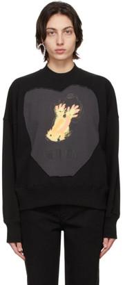 we11done Black Graffiti Patch Sweatshirt