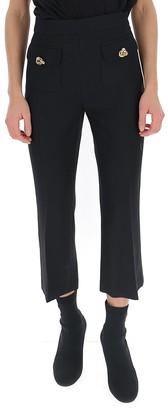 Elisabetta Franchi Button Embellished Capri Pants