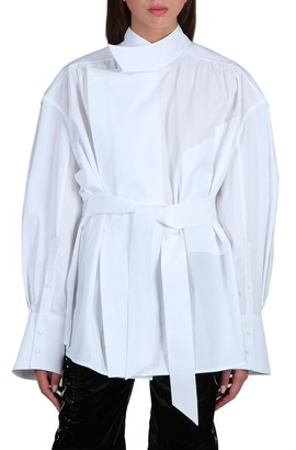 Thierry Mugler Oversized Shirt With Belt
