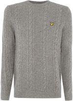 Lyle & Scott Men's Lambswool Cable Knit Crew Neck Jumper