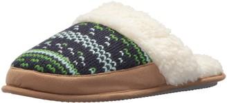 Dearfoams Women's Patterned Knit Closed T Scuff