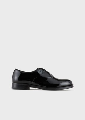Giorgio Armani Patent-Leather Oxfords