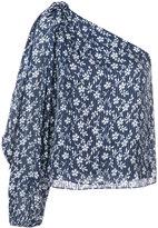 Ulla Johnson floral print one-shoulder blouse