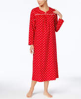Charter Club Flannel Lace-Trim Nightgown, Created for Macy's