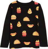 Thumbnail for your product : TINY TRIBE Pixel Food Long Sleeve Tee