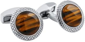 Tateossian Bullseye Semi Precious Tiger Eye Cufflinks