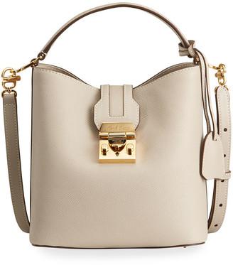 Mark Cross Murphy Small Soft Leather Bucket Bag