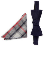 Original Penguin Laurie Solid Bow Tie & Pocket Square Set