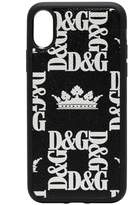 Dolce & Gabbana Crown print iPhone X phone case