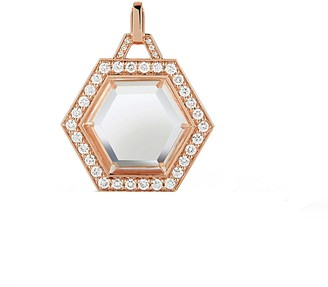 Walters Faith Dora Diamond Rock Crystal Hexagon Rose Gold Charm