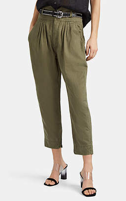 Frame Women's Pleated Twill Harem Pants - Green