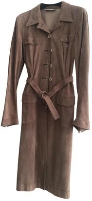 Prada Beige Suede Trench Coat for Women