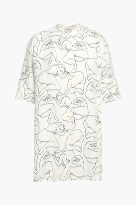 By Malene Birger Printed Twill Blouse
