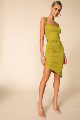 superdown Asymmetric Hem Mini Dress