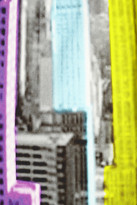 Tibi Empire printed stretch-denim pencil skirt