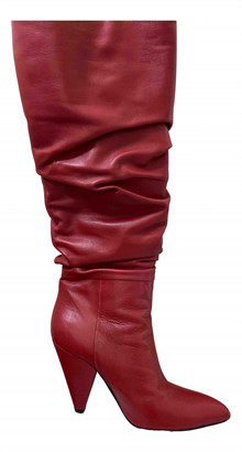 Giampaolo Viozzi Red Leather Boots